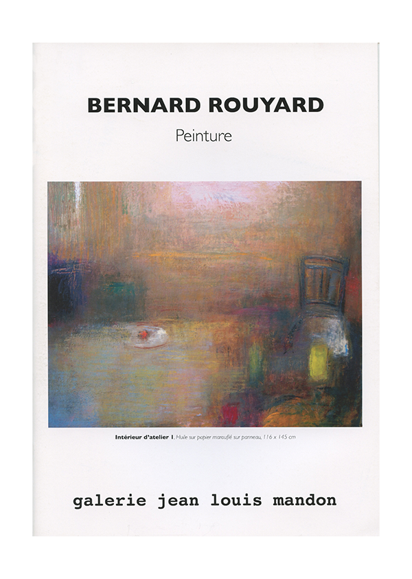 catalogue Bernard Rouyard
