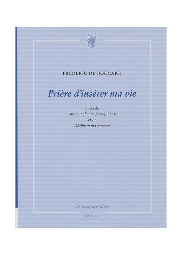 livre Frédéric de boccard