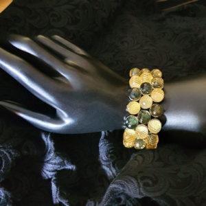 bracelet perles irisées