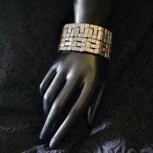 bracelet argenté large