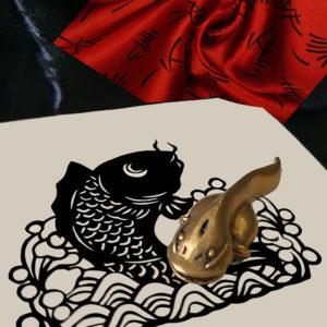 animal chinois laiton